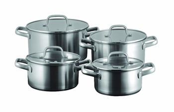 8pcs stainless steel cooking pots parini cookware casserole induction cookware buy stainless. Black Bedroom Furniture Sets. Home Design Ideas