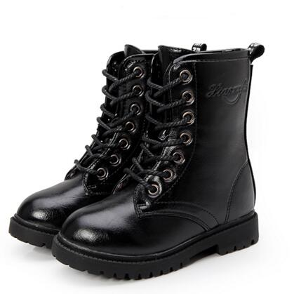 New Product Fashion Boys Girls Shoes Children Breathable Ankle Leather Boots Kids Martin Boots Student Spring