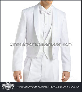 mens wedding white tail suit