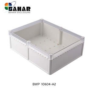 Hinged waterproof project plastic enclosure transparent case from Bahar (331 X 256 X 109 )