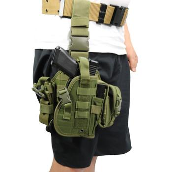 outdoor combined molle tactical drop leg holster oxford gun police pistol holster military