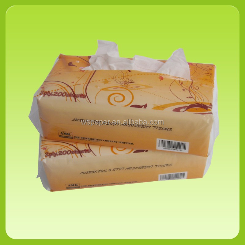 Soft pack facial tissue OEM brands factory manufacture