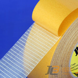 DOUBLE-SIDED CROSS WEAVING FILAMENT MESH TAPE JLW-303C high tack and permanent adhesion ;used for car seats /lights /laptops