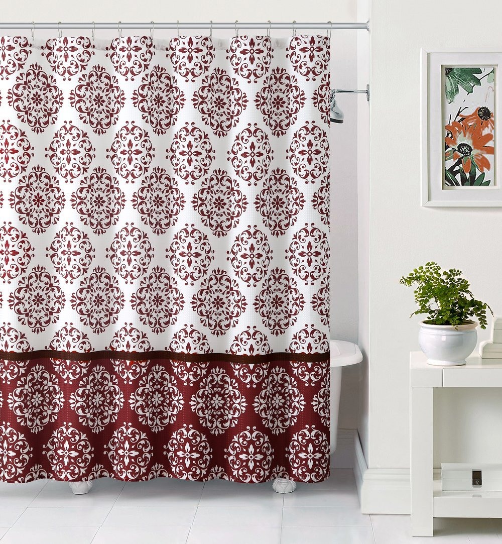 Buy Embossed Fabric Shower Curtain Moroccan Medallion