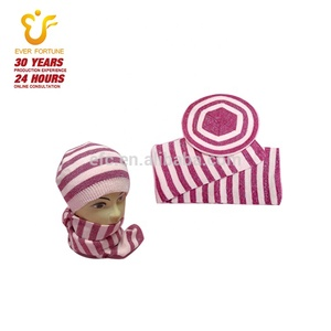 2019 knitted baby beanie scarf sets for Autumn winter spring Bonnet cap