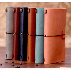 High-grade Thread-bound notebook with yellow pages elastic band journal
