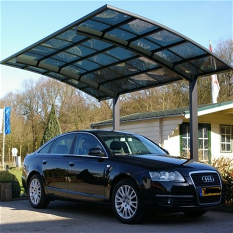aluminum double carports/garage M style with pc carbonate roof