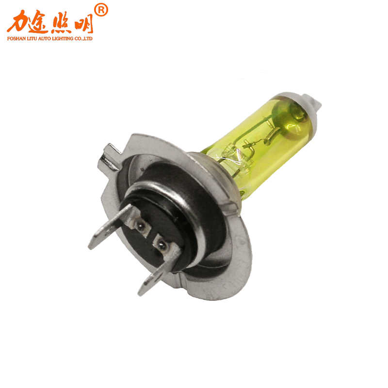 best selling h7 yellow halogen lamp 24v 70w auto light bulb 3000k Quartz glass Auto Halogen fog Bulb