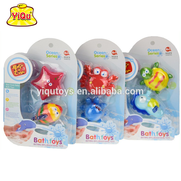 YIQU851811 China factory OEM baby bath floating toys custom vinyl toy manufacturer soft rubber toys for kids