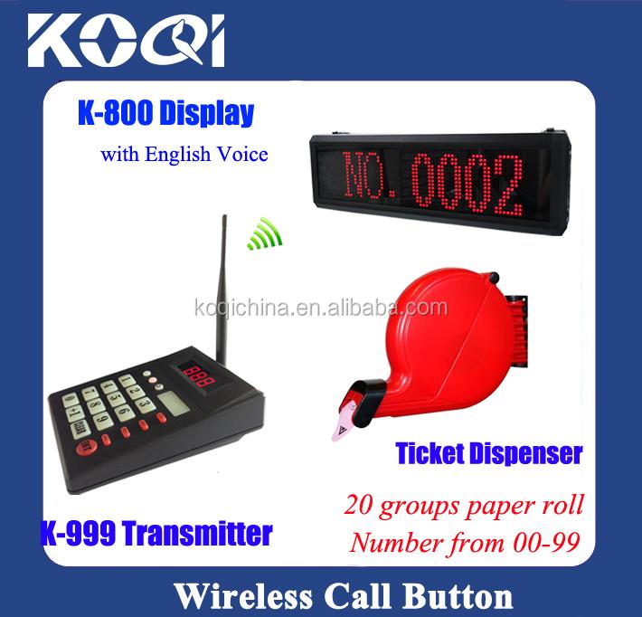 Led Queue System/ticket Dispenser System/queue Call Display System ...