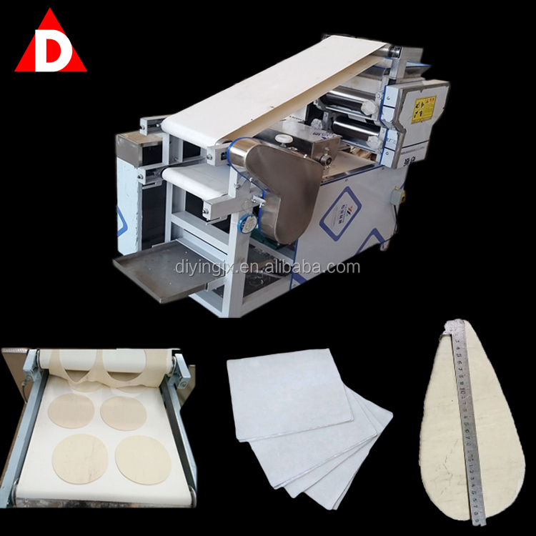 Small Gyoza Spring Roll Chapati Samosa Making Machine/Dough Pastry Dumpling Skin Wrapper Maker