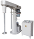 China good quality single shaft hydraulic lifting paint color mixing machine with tank arm clamp