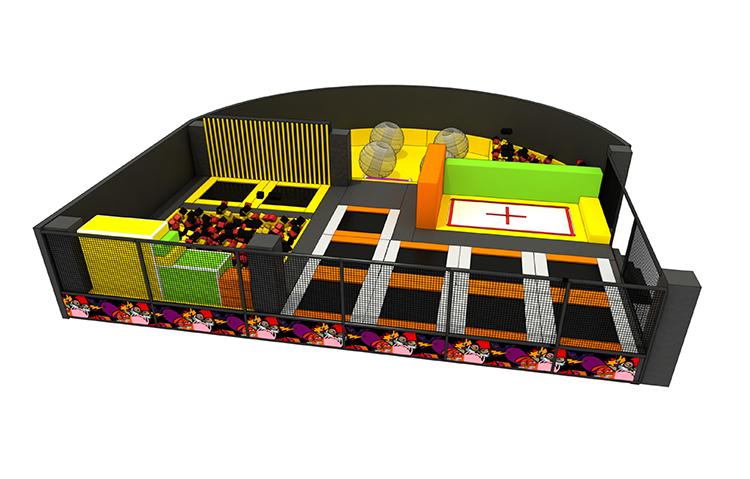 Crianças indoor playground cama trampolim retângulo interior