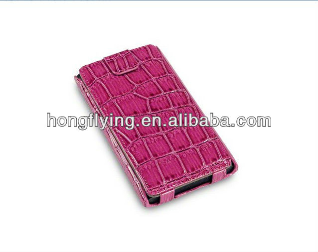 fashionable croco pu Case for Nokia Lumia 900, very popular