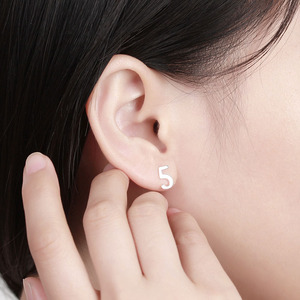 wholesale sterling silver earring stud, NUMBER earring