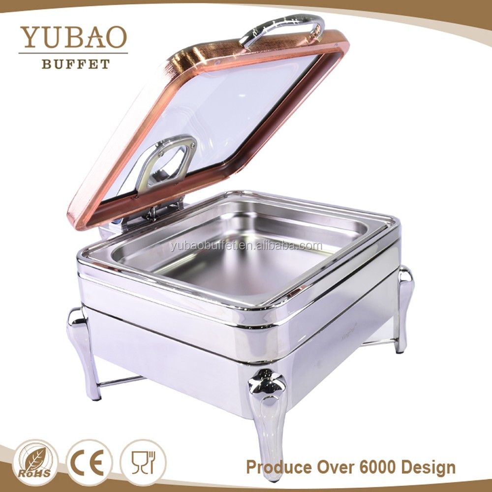 2017 wholesale restaurant equipment electric induction fuel indian copper chafing dishes for catering, 4Lhot sunnex chafing dish
