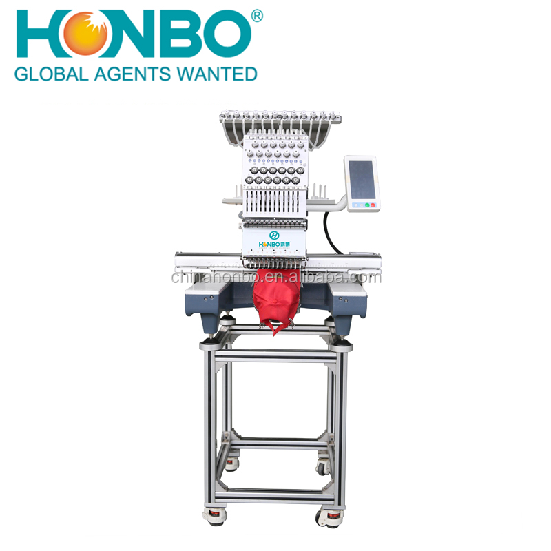 HB-C1201 industrial single head 12 needles garment quilt embroidery machine
