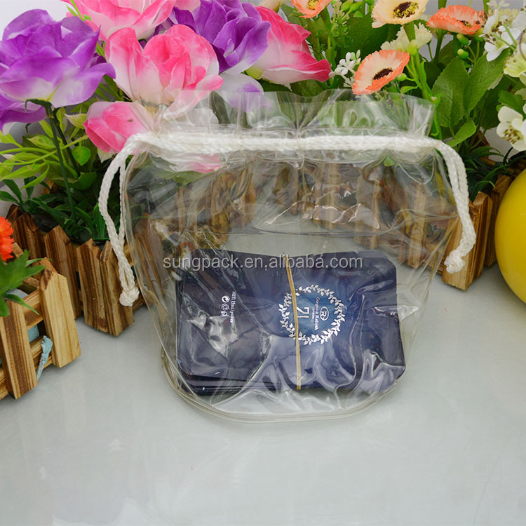 Customized Plastic Swimwear Packaging Bag with Drawstring Zipper