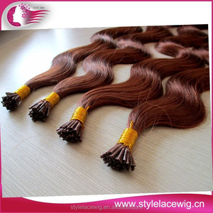 keratin i tip brazilian pre-bond hair extension wholesale stick tape hair