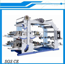 Paper Roll To Roll Flexo Printing Machine, 4 Colour Flexographic Printing Machine China