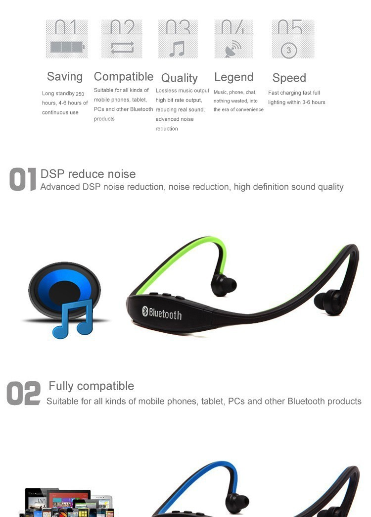 2016 noise canceling bluetooth headset of best price earphone long wire oem h. Black Bedroom Furniture Sets. Home Design Ideas