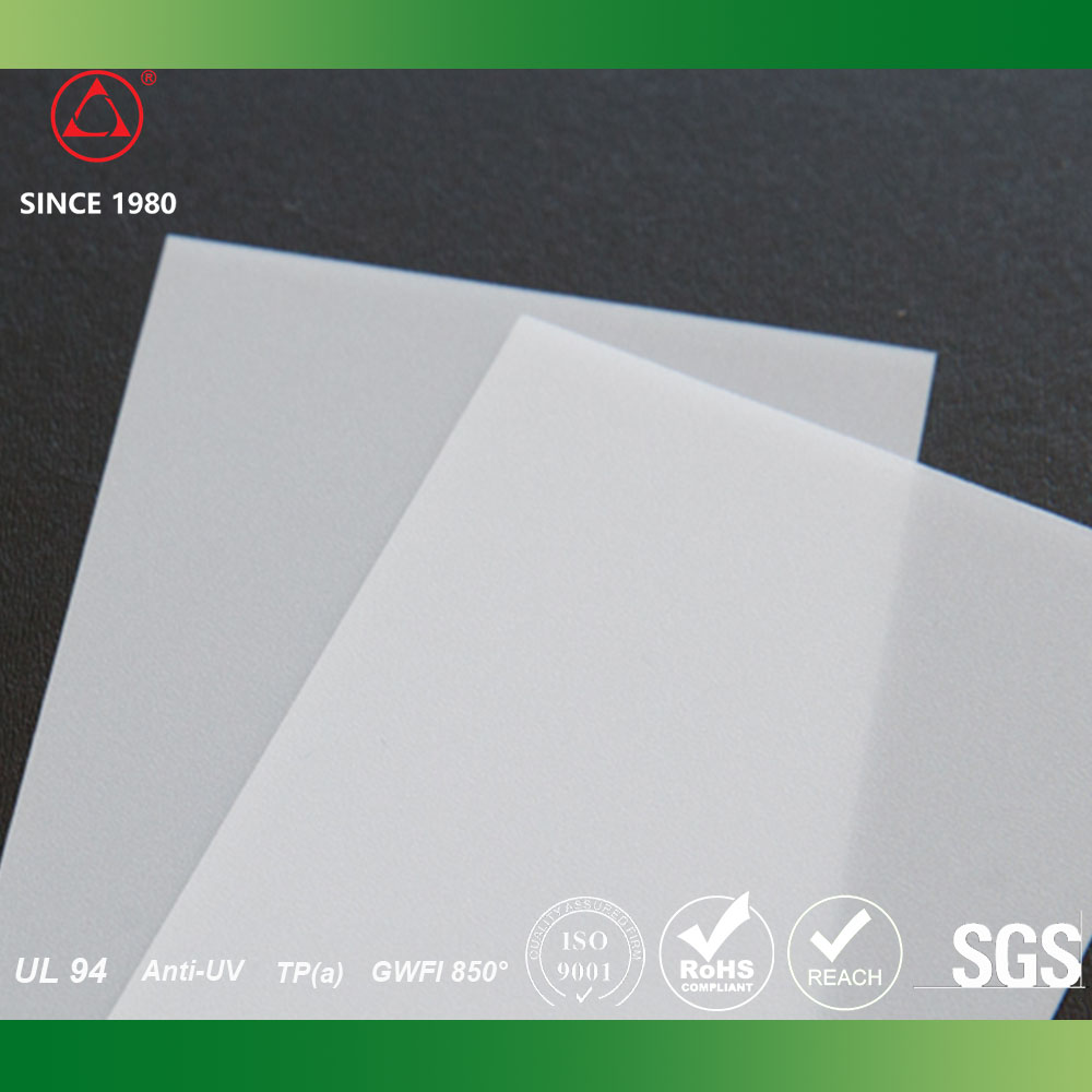 0.8mm Factory price polycarbonate Led Diffuser sheets for Panel light