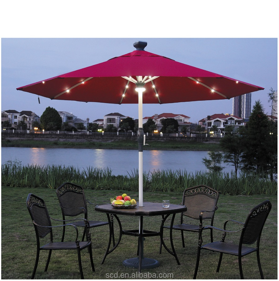 Best Selling Outdoor Solar Panel Umbrella for Outdoor Terrace Use