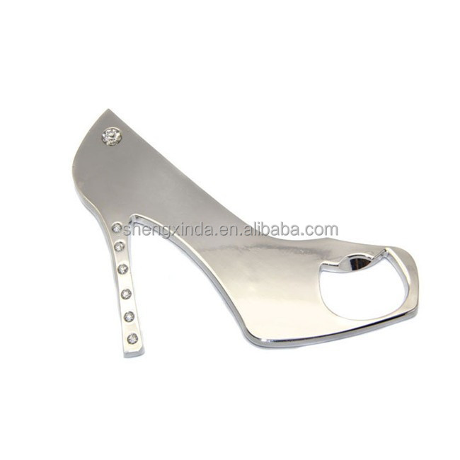 Metal Crystal High Heels Bottle Opener