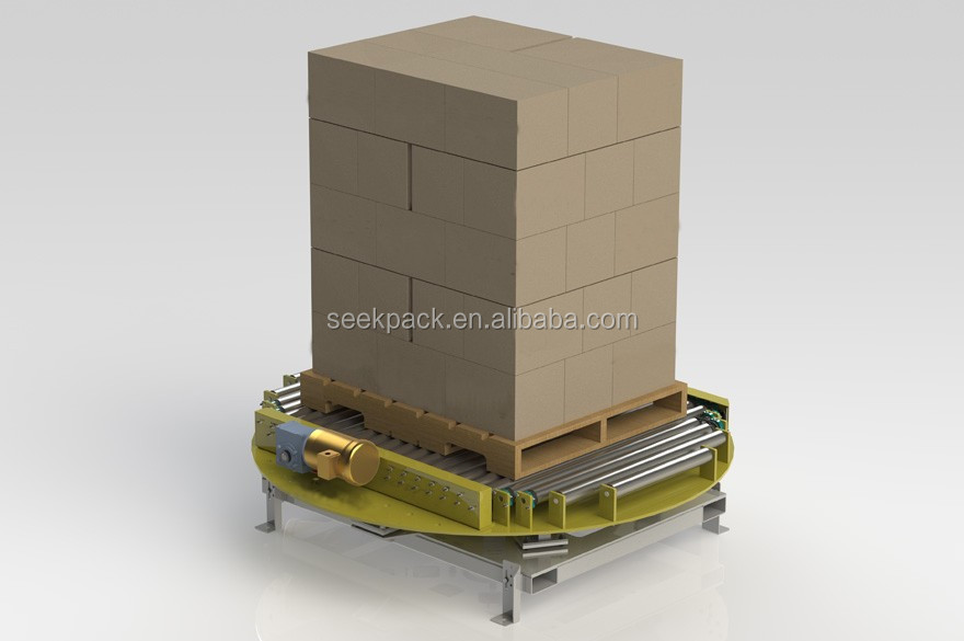 Turntable Roller Conveyor Automation For Pallet Automation