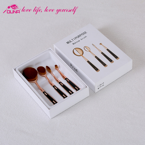 OUNA topsale 5% discount 4pcs makeup brush set free sample make up private label brushes