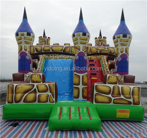 Water park inflatable slide/inflatable castle bouncer with slide for kids B4128