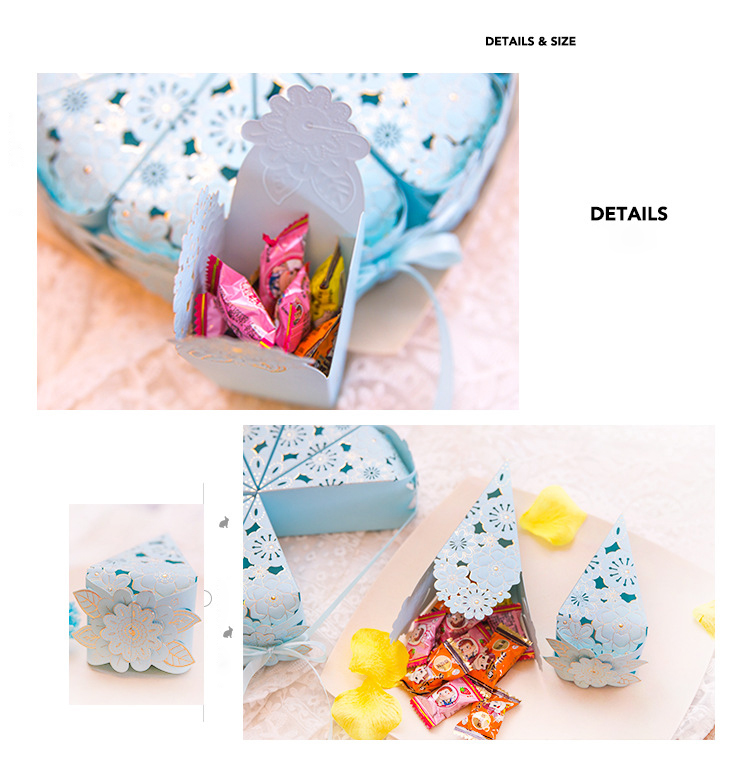 Hot Products Wedding sweet candy birthday Gift Boxes Cake sugar return gift favor box