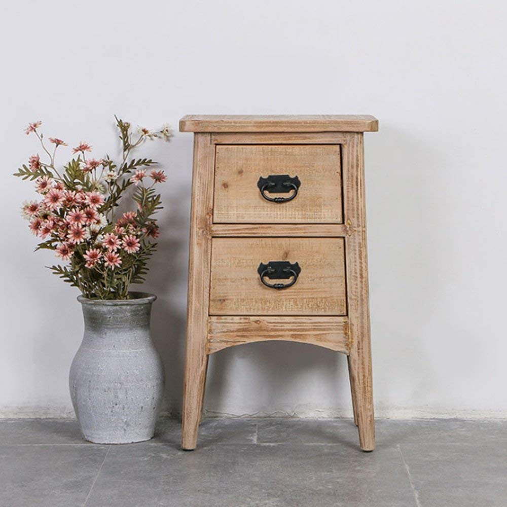 AiHerb.LT nightstand Nightstand Bedside Table Sofa Side Tables Wood Cabinets Lockers End Table Bedside Cabinet Storage Cabinet Solid Wood Coffee Table Night Stand Bedroom (Size:50x40x55cm)