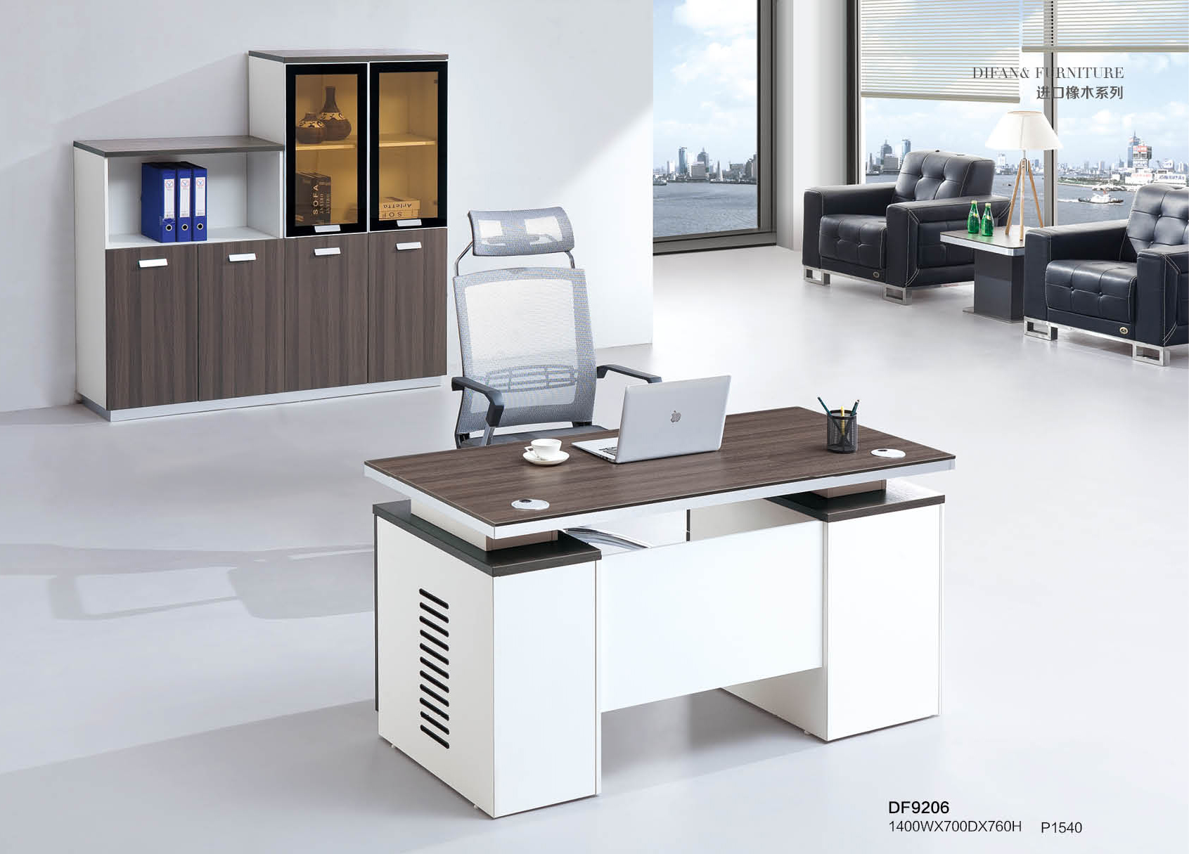 Cheap Price High Quality Melamine Modern Office Furniture Staff