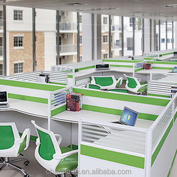 Standard Sizes 30mm Fancy Two Sided Office Desk For Linear Office  Workstation Partition