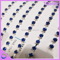 Wholesale sewing accessories clear crystal cup chain in roll