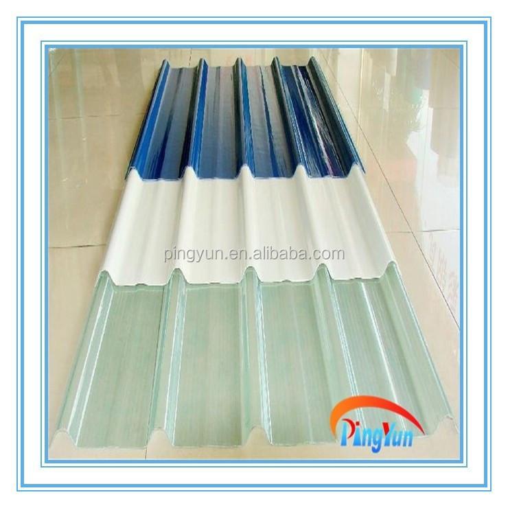 L minas para techos de frp transparente pl stico de fibra for Cubiertas transparentes para techos