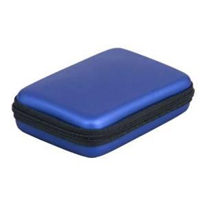 """TOOGOO(R) Portable Hard Disk Drive Shockproof Zipper Cover Bag Case 2.5"""" HDD Bag Hardcase Blue"""