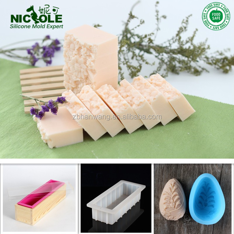 2016 New Hot Custom Handmade Silicone Soap Molds, Wood Box Silicone Soap Molds With Lid, Loaf Bar Silicone Soap Molds