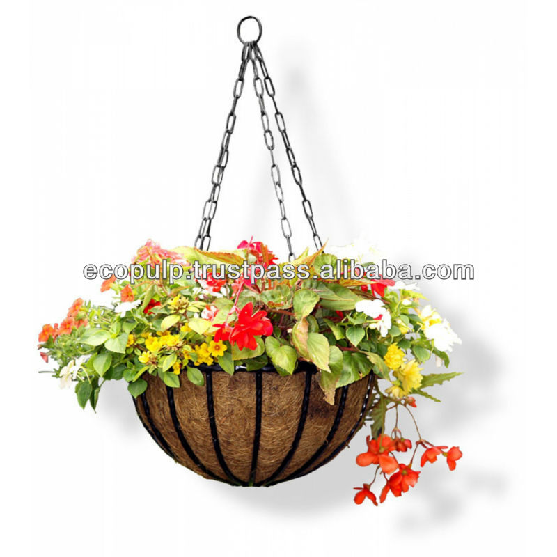 Wire Hanging Basket With Coco Liner Plant Baskets Mesh Indoor Product