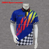Polo shirt dropship custom racing shirts with race flags