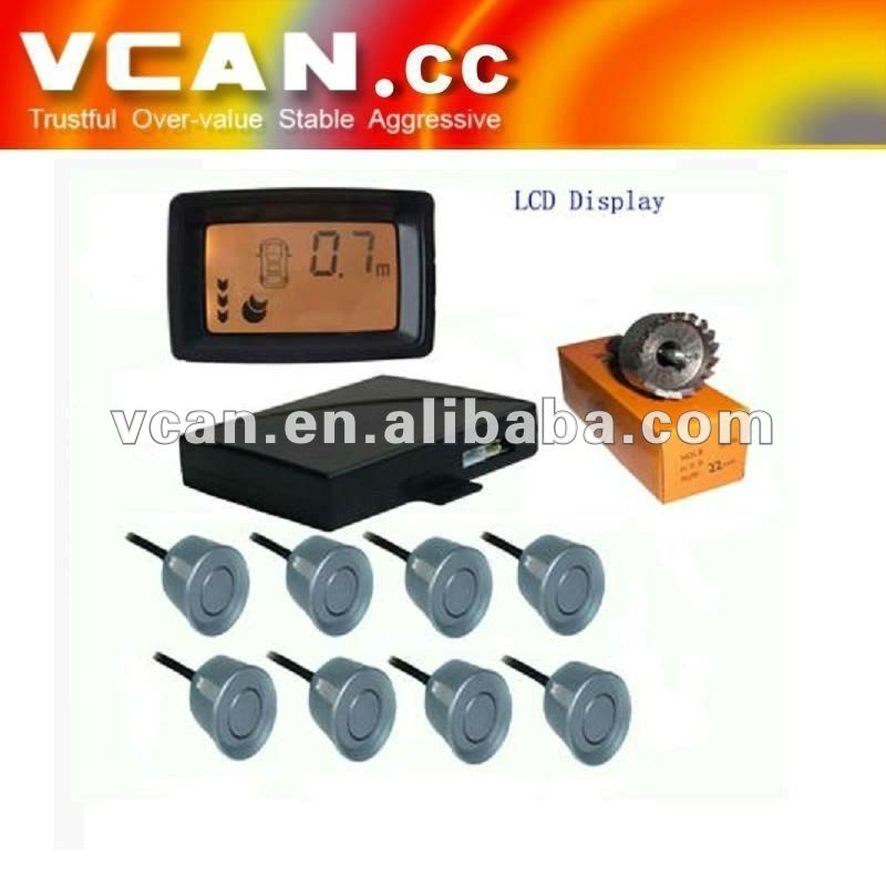 driver assistant Colorful LCD With 8 sensors Parking Sensor for parking aids// VCAN0387-1