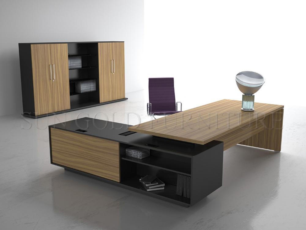 diseo moderno diseo con madera estantera escritorio de la oficina ejecutiva