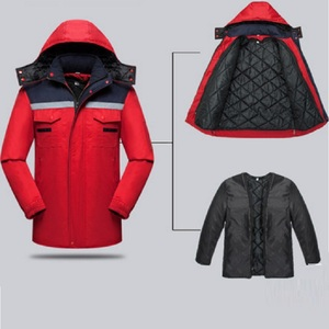 customize winter jacket work uniform workwear with padded lining