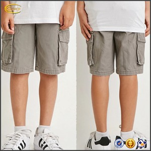 Ecoach Wholesale OEM Children Clothes Custom Boys Cargo Chino Shorts with Five Pocket Zip Fly Pants for Kids