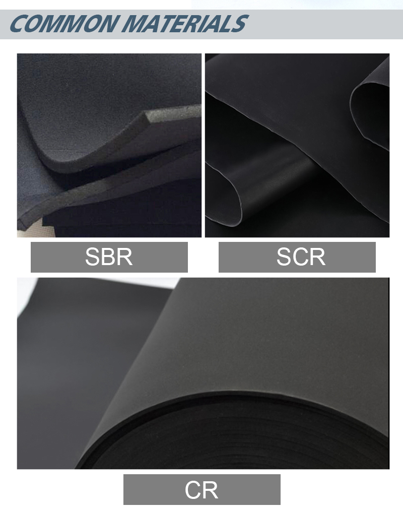 Factory Price 2MM 4MM Elastic Neoprene Rubber Sheet Fabric