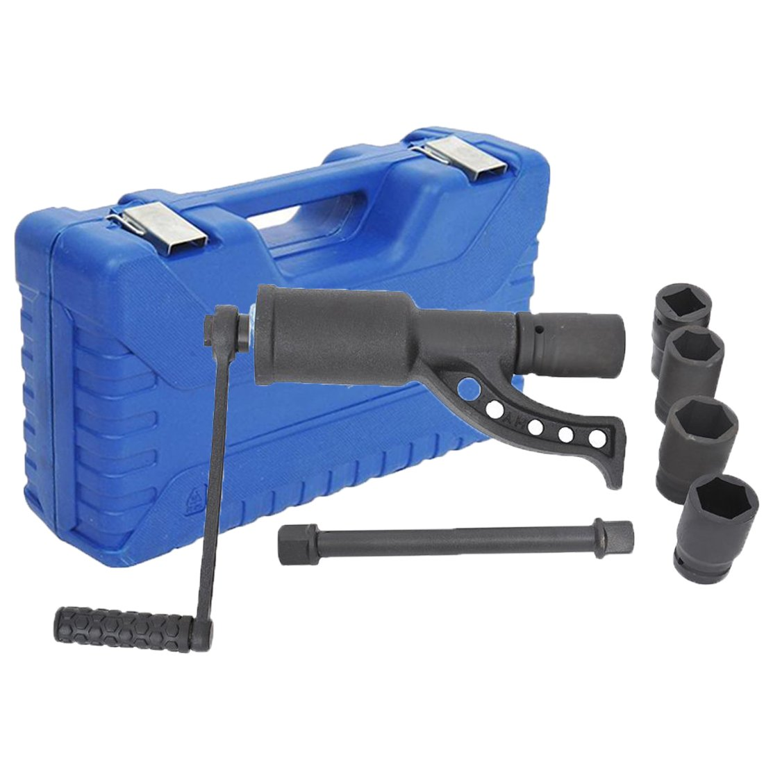 Tenive Heavy Duty Lug Nut Labor Saving Tool Torque Multiplier Socket Wrench Set with Case, 4 sockets
