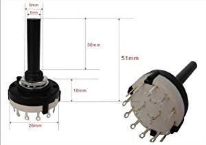 HOT SALE!!! BARGAIN PRICE!!! 1,2 Pole 5 Position Long Shaft 5 WAY ROTARY SWITCH 2P5L in Business