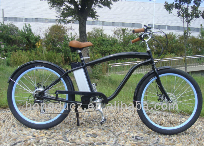 cheap electric road beach cruiser bikes for sale in china 250W 36V