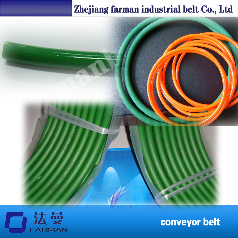 Farman Green Orange Transparent Pu Round Belt Polyurethane Drive Belt Smooth And Rough Surface